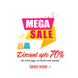 Mega Sale Poster, Banner or Flyer design. Royalty Free Stock Image