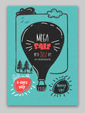 Mega Sale Poster, Banner or Flyer design. Stock Images