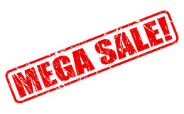 Mega sale red stamp text Stock Photography
