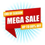 Mega Sale Sign Vector. Eps10 Vector. Mega Sale Sign Vector. Eps10 Vector Price Tags for commercial websites Stock Photo