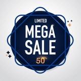Mega Sale symbol Sale och specialt erbjudande 50% av också vektor för coreldrawillustration Arkivfoto