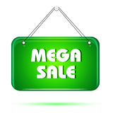 Mega sale tag Stock Images