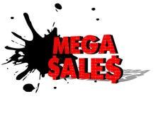 MEGA SALE text för 3D Royaltyfri Bild