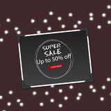 Mega Sale with Upto 50 Discount Offer, Creative Poster, Banner or Flyer design Royalty Free Stock Photo