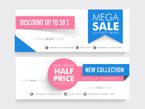 Mega Sale website header or banner. Stock Photos