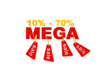 Mega sales discounts Stock Image