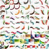 Mega samling av geometriska abstrakta bakgrunder royaltyfri illustrationer