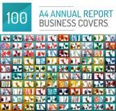 Mega samling av 100 mallar för affärsårsrapportbroschyr vektor illustrationer