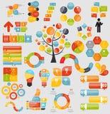 Mega samling av plana Infographic mallar för Royaltyfri Bild