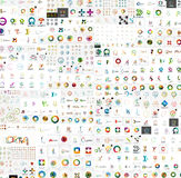 Mega- Sammlung der abstrakten Logos des Vektors Firmen Stockbild