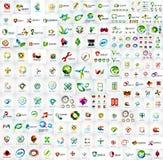 Mega- Sammlung des Logos Stockfoto