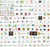 Mega- Sammlung des Logos Lizenzfreies Stockbild