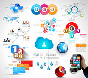 Mega- Sammlung Qualität Infographics-Gegenstände Stockfotografie