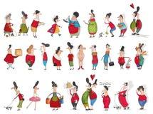 Mega- Sammlung Zeichentrickfilm-Figuren Stockbild