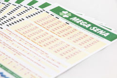 Mega-Sena - brasilianische Lotterie lizenzfreies stockfoto