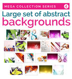 Mega set of abstract backgrounds Royalty Free Stock Photos