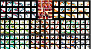 Mega set of abstract backgrounds Stock Image