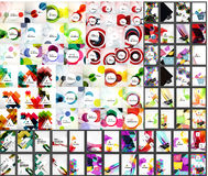 Mega set of abstract backgrounds Royalty Free Stock Images