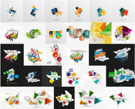 Mega set of abstract geometric web banner Royalty Free Stock Image
