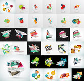 Mega set of abstract geometric web banner Stock Photography