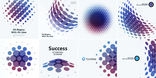 Mega Set of Abstract vector design round elements for graphic template Stock Photos