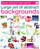 Mega set abstrakcjonistyczni tła Obraz Royalty Free