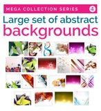 Mega set abstrakcjonistyczni tła Zdjęcia Royalty Free