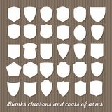 Mega Set of  Blanks chevrons and coats of arms Royalty Free Stock Images