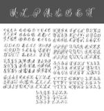 Mega set of calligraphy hand written alphabet design Royalty Free Stock Photo