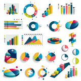 Mega set of charts, graphs, circle charts. Royalty Free Stock Photography