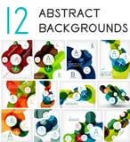 Mega set of circle geometric backgrounds Stock Images