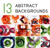 Mega set of circle geometric backgrounds Royalty Free Stock Photography