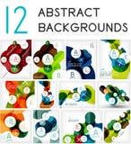 Mega set of circle geometric backgrounds Stock Image