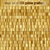 Mega set consisting of collection 256 golden gradients. EPS 10 royalty free illustration