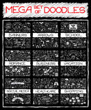 MEGA set of doodles Royalty Free Stock Images