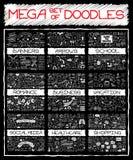 MEGA set of doodles Royalty Free Stock Images