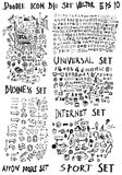 MEGA set of doodles. Super collection of arrow ,business and fin. Vector hand drawn arrows set Stock Photography