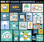 Mega Set Flat Computer Design Vector Illustration Royalty Free Stock Image