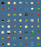 Mega Set of Flat Icons Vector Illustration. Stock Photography