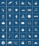 Mega Set of Flat Icons Vector Illustration. Royalty Free Stock Photos