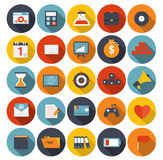 Mega Set of Flat Icons Vector Illustration. Royalty Free Stock Photography