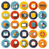 Mega Set of Flat Icons Vector Illustration. This is file of EPS10 format Royalty Free Stock Photos