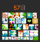 Mega set of geometric shape abstract backgrounds Royalty Free Stock Photos