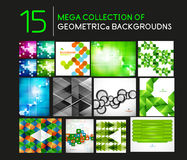 Mega set of geometric shape abstract backgrounds Stock Photo