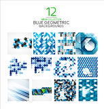 Mega set of geometric shape abstract backgrounds Royalty Free Stock Photography