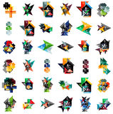 Mega set of geometric web option box banners Royalty Free Stock Photo