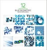Mega set geometryczni kształta abstrakta tła Fotografia Royalty Free