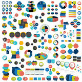 Mega set of infographic elements charts, graphs, circle charts, diagrams, speech bubbles. Royalty Free Stock Photography