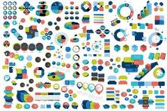 Mega set of infographic elements charts, graphs, circle charts, diagrams, speech bubbles. . Mega set of infographic elements charts, graphs, circle charts Stock Photography
