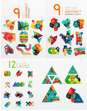 Mega set of infographic layouts, labels, web boxes Royalty Free Stock Images